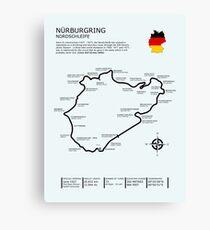 Der Nürburgring - Nordschleife Leinwanddruck