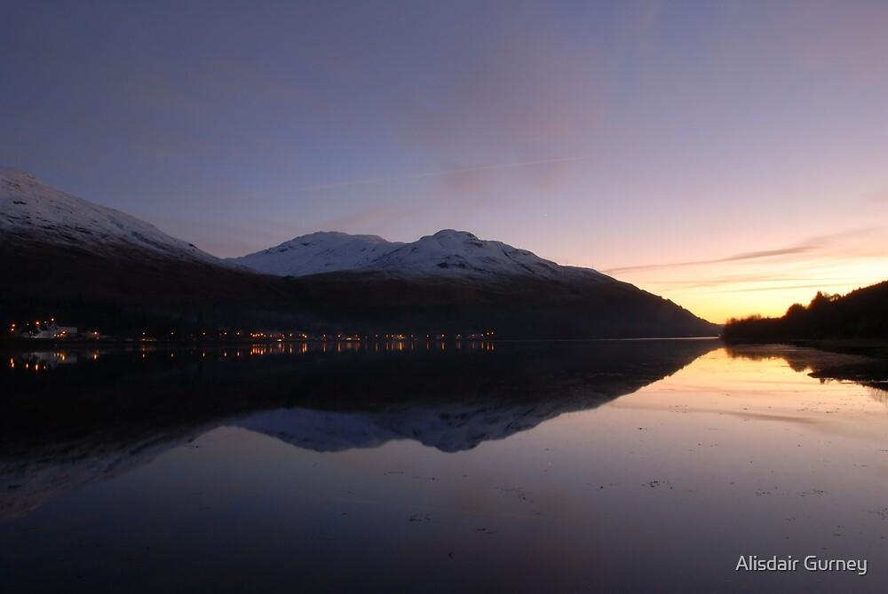 arrochar sunset by Alisdair Gurney