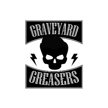 GRAVEYARD GREASERS SQUARE LOGO by hurricanshelter