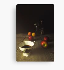 still life with a cup and apples Canvas Print