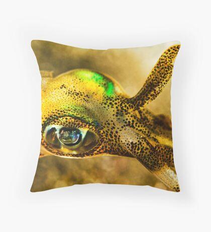Squid Eye Throw Pillow