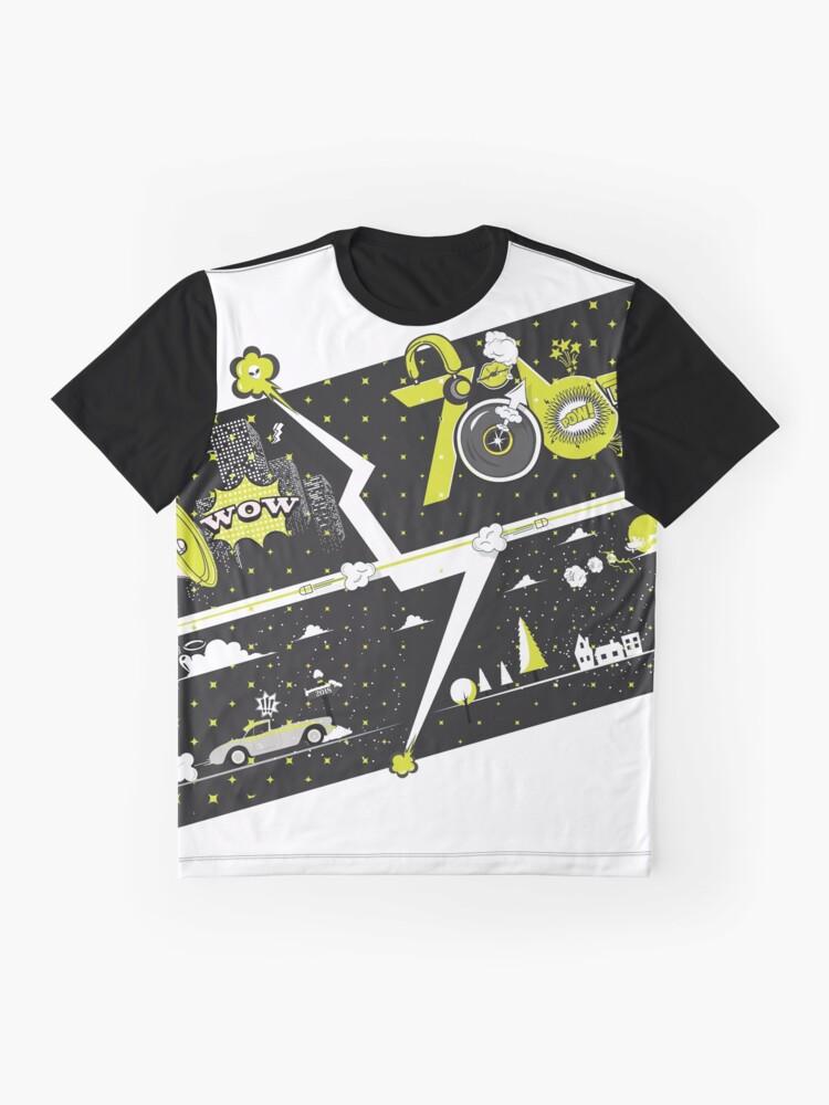 Alternate view of Tobu Yellow Comic Art Graphic T-Shirt