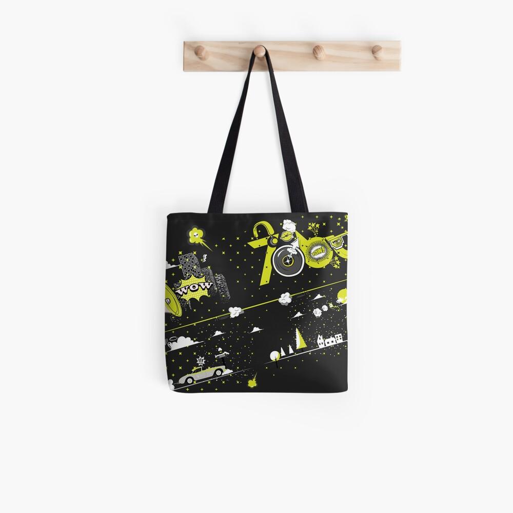 Tobu Yellow Comic Art Tote Bag