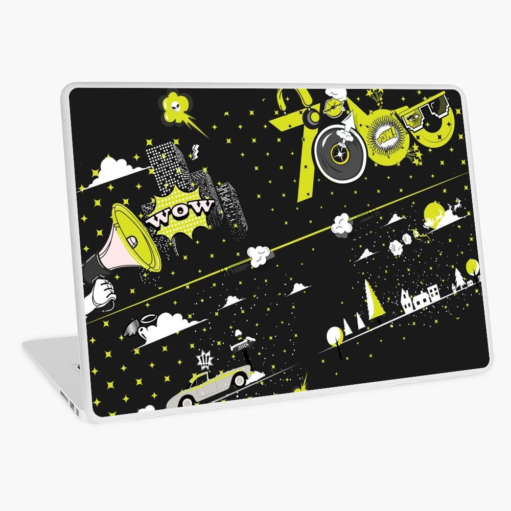 Tobu Yellow Comic Art Laptop Skin