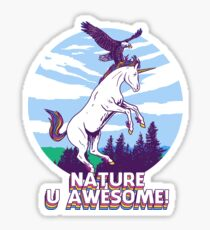 Nature U Awesome! Sticker