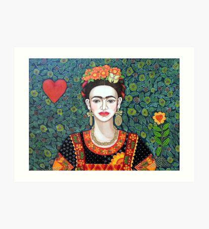 Frida, Queen of Hearts closer II Art Print