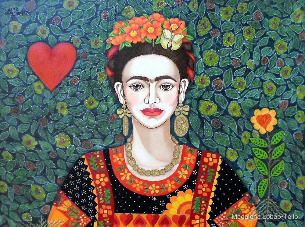 Frida, Queen of Hearts closer II by Madalena Lobao-Tello