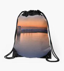 Merewether Baths Sunrise Drawstring Bag