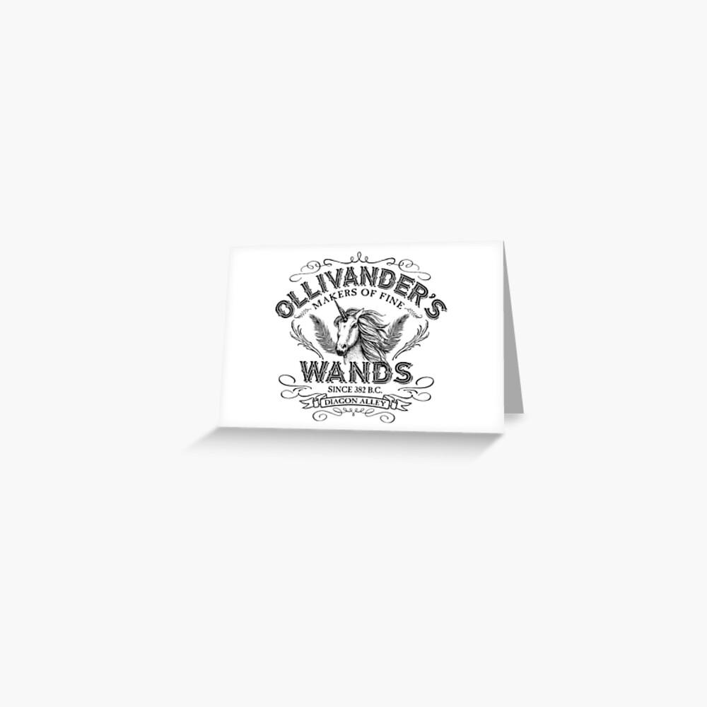 Ollivanders Zauberstab Shop Grußkarte