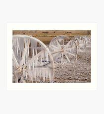 Frozen Wheels Art Print