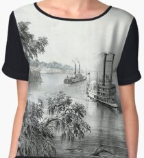 Low water in the Mississippi - 1867 Chiffon Top