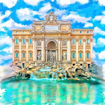 The Trevi Fountain - Rome - La Dolce Vita -  by marksda1