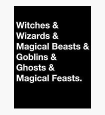 Witches & Wizards &... Photographic Print