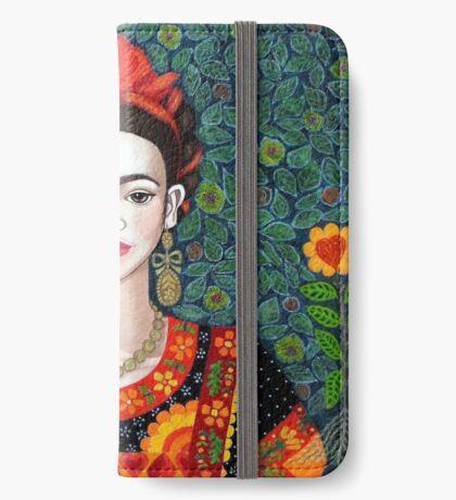 Frida,  Queen of Hearts closer I iPhone Wallet