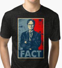 Dwight Schrute fact Tri-blend T-Shirt