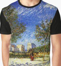 Van Gogh - A Suburb of Paris Graphic T-Shirt