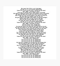 Galway Girl Lyrics Photographic Print