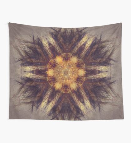 mandala brown art #mandala #brown  Wall Tapestry