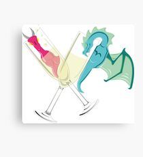 Drunk Dragons Canvas Print