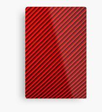 Red geometric pattern (motif géométrique rouge)  Metal Print