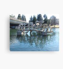 Centennial Sculpture Canvas Print