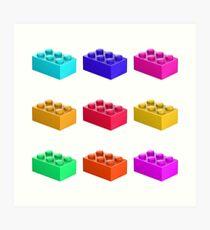 Warhol Toy Bricks Art Print