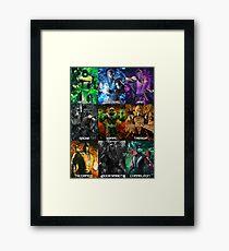 MK 9 klassic ninjas Framed Print