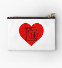 Baking Heart Sticker & T-Shirt - Gift For Baker Studio Pouch