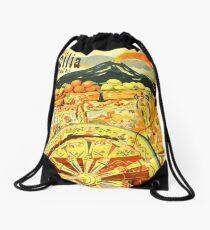 Italy,Sicilia,Travel Poster Drawstring Bag
