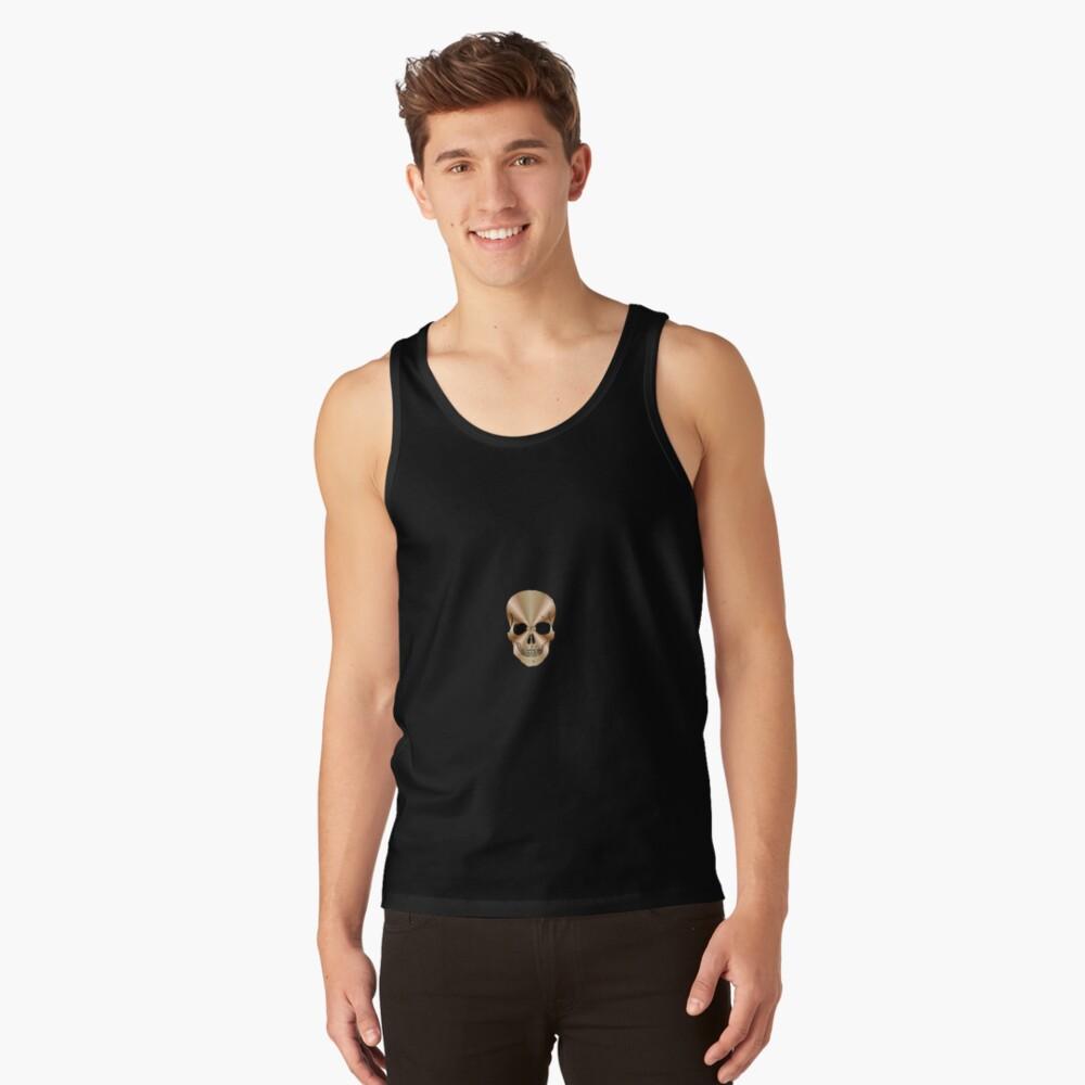 Skull Shirt Tank Top Front
