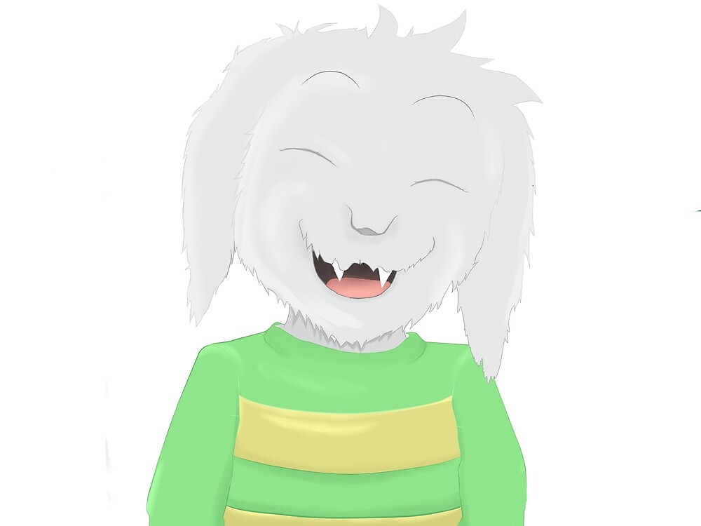 Asriel's happiness by Jonathanworks