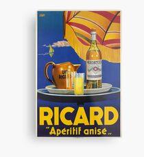 Ricard -Apéritif anisé, Advertisement Poster Metal Print