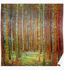 TANNEWALD: Gustav Klimt Landscape Painting Print Poster
