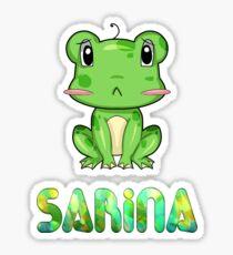 Sarina Frog Sticker