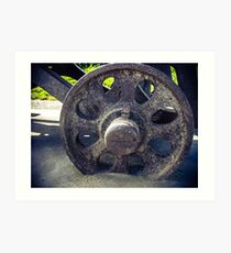 Old Cannon Wheel Art Print
