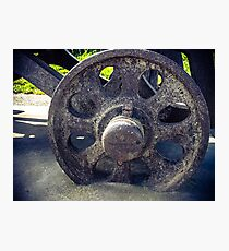 Old Cannon Wheel Photographic Print