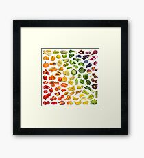 Geometric food Framed Print