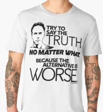 Try to Say the Truth (1) Men's Premium T-Shirt