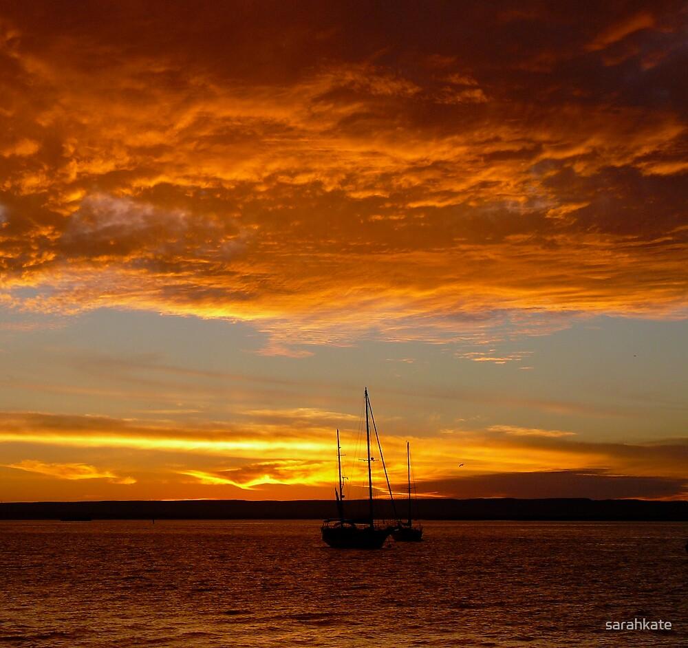 Blazing Sunset by sarahkate