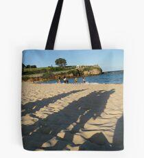 Shadows on Coogee Beach Tote Bag
