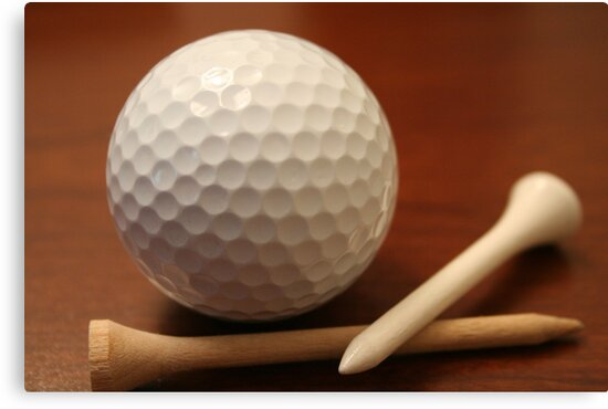 Ball and tees by Ernie Lopez