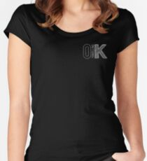 OK TravellingK Women's Fitted Scoop T-Shirt
