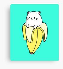 Bananya Inspired Kawaii Cat Canvas Print
