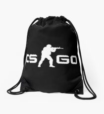 CSGO - White Drawstring Bag