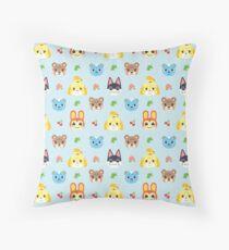 Animal Crossing - Blue Throw Pillow