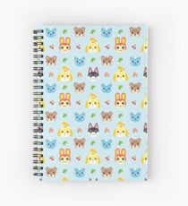 Animal Crossing - Blue Spiral Notebook