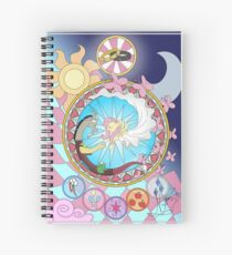 Fluttercord Stained Glass Spiral Notebook