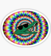 Allegheny College Glasses Gator Sticker