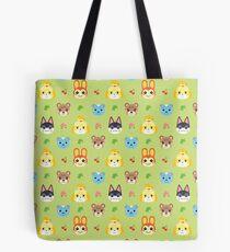 Animal Crossing Pattern - Green Tote Bag