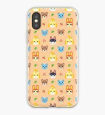 Animal Crossing Pattern - Peach iPhone Case